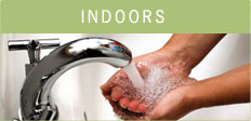 Indoors: Use these conservation tips to find out ways to save water.
